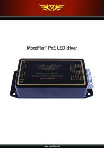 Moodifier PoE LED driver