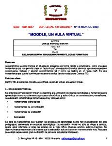 MOODLE, UN AULA VIRTUAL
