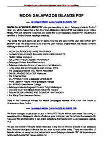 MOON GALAPAGOS ISLANDS PDF