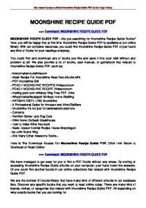 MOONSHINE RECIPE GUIDE PDF