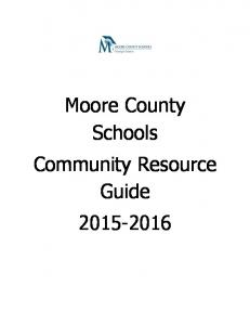 Moore County Schools Community Resource Guide