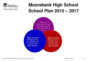 Moorebank High School School Plan
