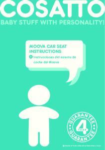 Moova Car SEaT InSTruCTIonS