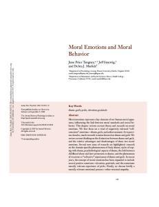 Moral Emotions and Moral Behavior