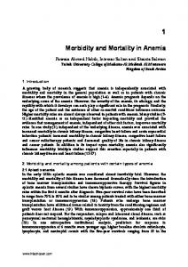 Morbidity and Mortality in Anemia