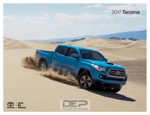 More action. More sport. The 2017 Toyota Tacoma