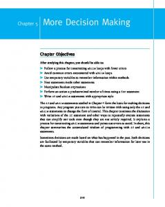 More Decision Making