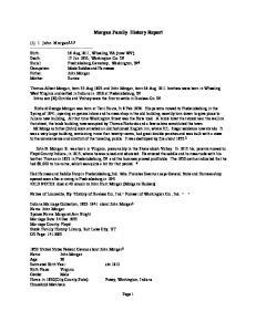 Morgan Family History Report