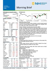 Morning Brief. JCI Movement. JCI - intraday. Indonesia Economic Data