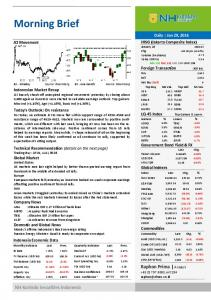 Morning Brief. Raphon Prima Analyst , ext:214 NH Korindo Securities Indonesia
