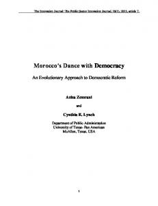 Morocco s Dance with Democracy