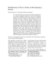 Morphometry of Nerve Trunks in Hirschsprung s Disease