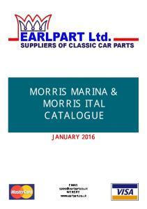 MORRIS MARINA & MORRIS ITAL CATALOGUE