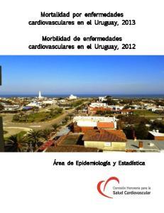 Mortalidad por enfermedades cardiovasculares en el Uruguay, Morbilidad de enfermedades cardiovasculares en el Uruguay, 2012