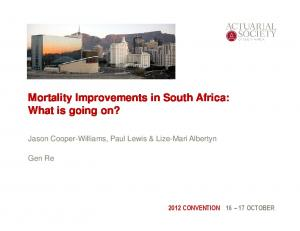 Mortality Improvements in South Africa: What is going on?