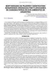 MORTANDADES DE PEJERREY ODONTESTHES BONARIENSIS ORIGINADAS POR FLORACIONES DE CIANOBACTERIAS EN DOS AMBIENTES DE ARGENTINA