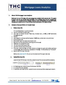 Mortgage Loans Analytics