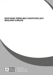 MORTGAGE TERMS AND CONDITIONS 2014 (ENGLAND & WALES)