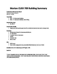 Morton CUSD 709 Building Summary