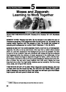 Moses and Zipporah: Learning to Work Together