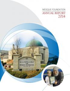 MOSQUE FOUNDATION ANNUAL REPORT