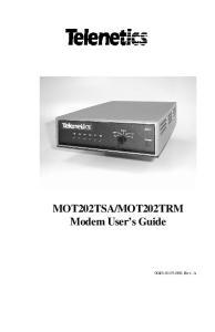 MOT202TRM Modem User s Guide , Rev. A