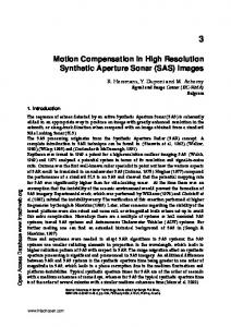 Motion Compensation in High Resolution Synthetic Aperture Sonar (SAS) Images