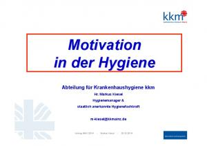 Motivation in der Hygiene