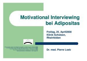 Motivational Interviewing bei Adipositas