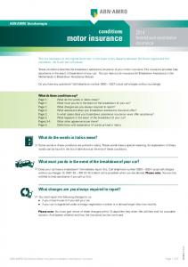 motor insurance Do you have any questions? Call telephone number (usual call charges without surcharge)