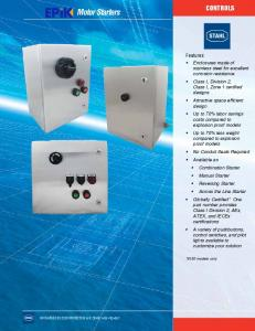 Motor Starters CONTROLS. Features: