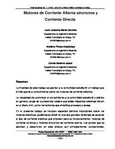 Motores de Corriente Alterna síncronos y Corriente Directa