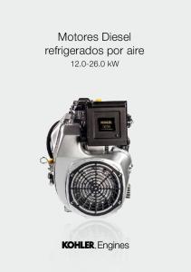 Motores Diesel refrigerados por aire kw