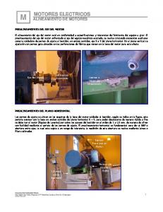MOTORES ELECTRICOS ALINEAMIENTO DE MOTORES