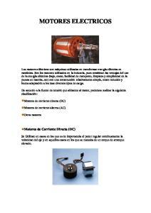 MOTORES ELECTRICOS. Motores de Corriente Directa (DC)
