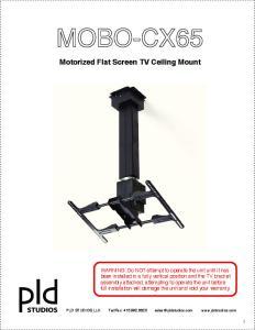 Motorized Flat Screen TV Ceiling Mount