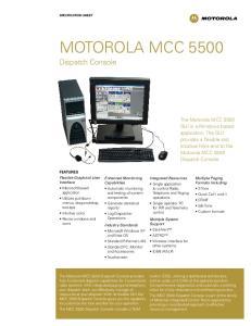 MOTOROLA MCC Dispatch Console