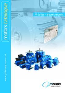 motorscatalogue M Series - electric motors