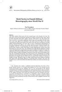 Motti Tactics in Finnish Military Historiography since World War II