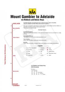 Mount Gambier to Adelaide