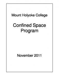 Mount Holyoke College. Confined Space Program