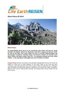 Mount Kenya & Safari. Mount Kenya