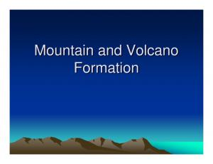 Mountain and Volcano Formation