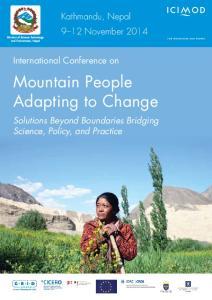 Mountain People Adapting to Change