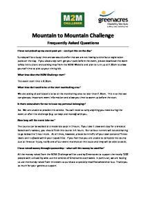 Mountain to Mountain Challenge