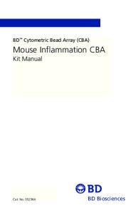 Mouse Inflammation CBA Kit Manual
