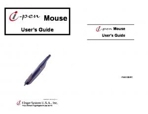 Mouse. User s Guide. Mouse User s Guide IPMO