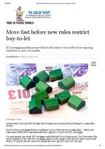 Move fast before new rules restrict buy to let