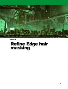 Movie 8. Refine Edge hair masking