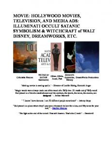 MOVIE: HOLLYWOOD MOVIES, TELEVISION, AND MEDIA ADS: ILLUMINATI OCCULT SATANIC SYMBOLISM & WITCHCRAFT of WALT DISNEY, DREAMWORKS, ETC